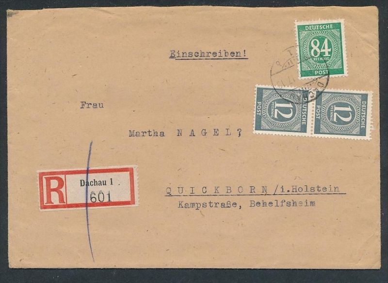 Zonen Brief  -netter Beleg .( t4326 ) siehe scan