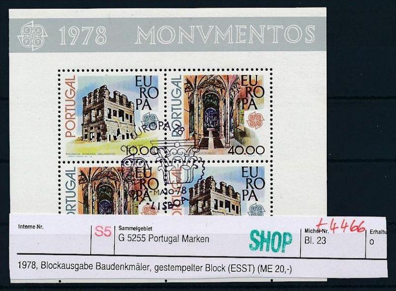 Portugal Block   23  o ( t4466 ) siehe scan 0