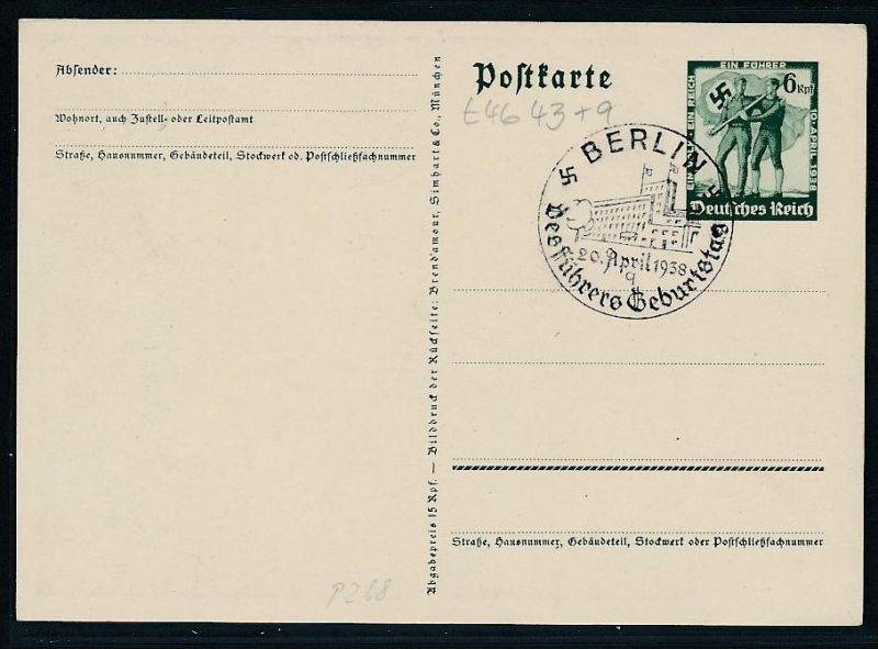 D.-Reich Ganzsache ............( t4643 ) siehe scan 1