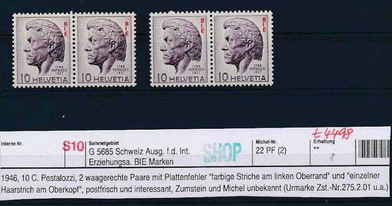 Schweiz-Lot-Dienst-Abart ! ....( t4498 ) siehe scan