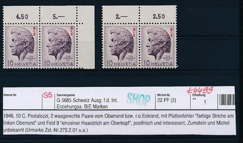 Schweiz-Lot-Dienst-Abart ! ....( t4499 ) siehe scan