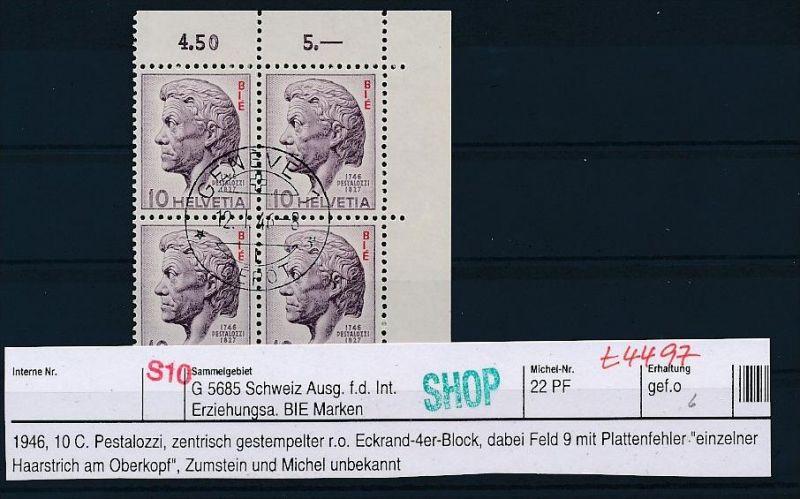 Schweiz-Lot-Dienst-Abart ! ....( t4497 ) siehe scan
