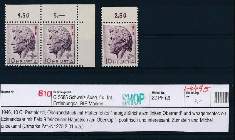 Schweiz-Lot-Dienst-Abart ! ....( t4495 ) siehe scan 0