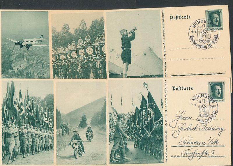 D.-Reich  Lot 6 Ganzsachen..( t4537  ) siehe scan