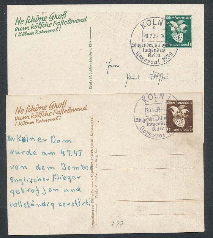 D.-Reich  Lot 2 Ganzsachen..( t4538  ) siehe scan 1