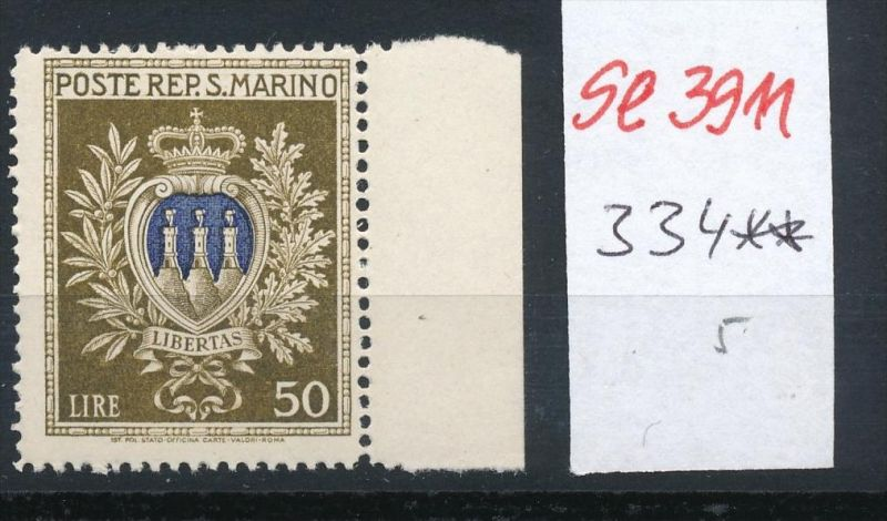 San Marino Nr. 334  **... ( se3911  ) siehe scan 0