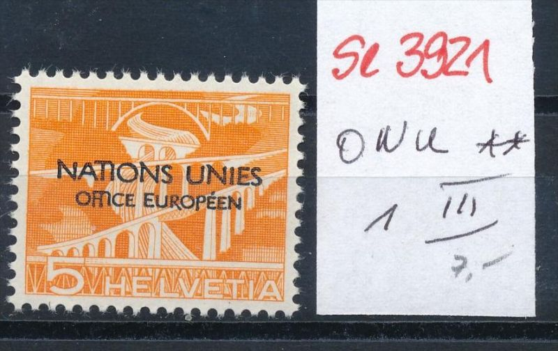 Schweiz  ONU  1  III**    ( se3921  ) siehe scan 0