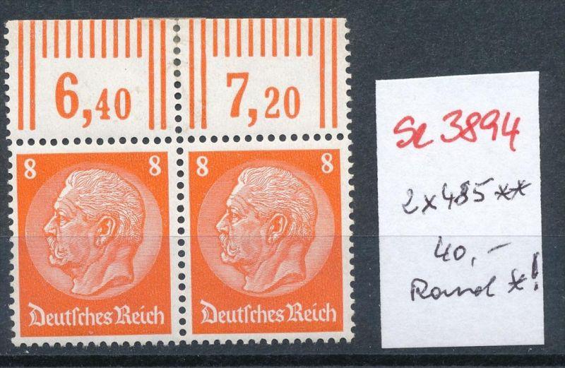 D.-Reich 2x  485  **  ( se3894  ) siehe scan 0