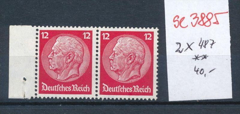 D.-Reich 2x  487  **  ( se3885  ) siehe scan 0