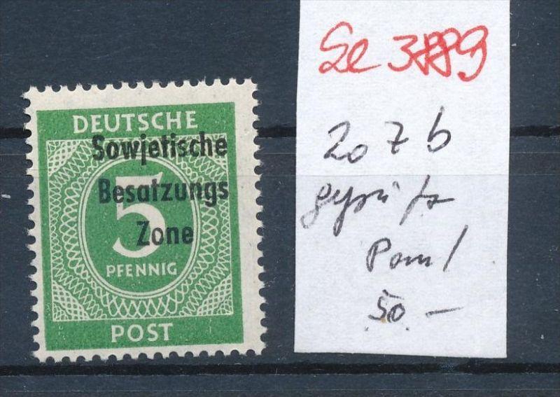 SBZ Nr. 207 b ** geprüft  ( se3889  ) siehe scan 0
