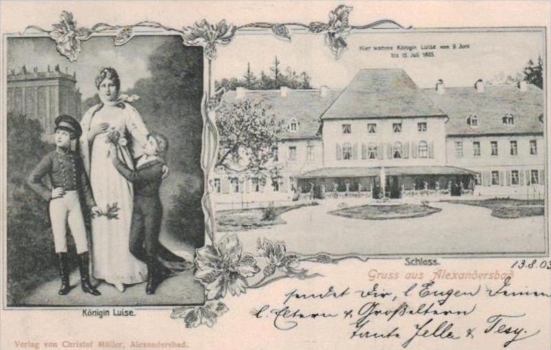 Alexanderbad - alte Karte  .. ( k9396) siehe scan 0