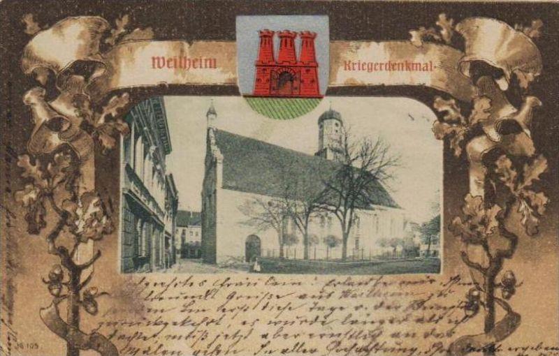 Weilheim.. - alte Karte  .. ( k9418) siehe scan 0