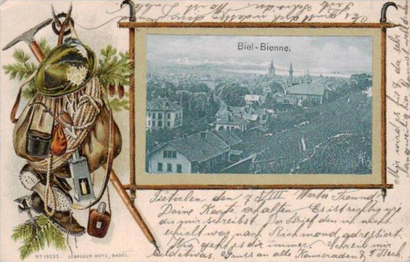 Biel Präge. - alte Karte  .. ( k9428  ) siehe scan 0