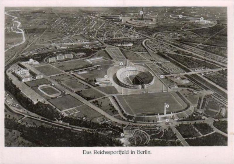 Reichssportfeld Berlin  - alte Karte  .. ( k9466  ) siehe scan 0