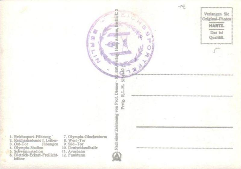 Reichssportfeld Berlin  - alte Karte  .. ( k9466  ) siehe scan 1