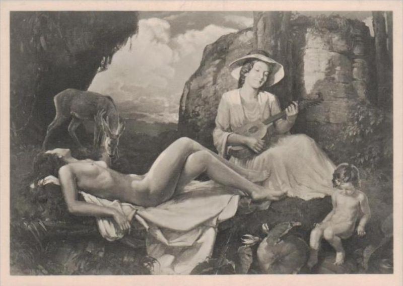 Erotik-aus Propaganda Serie  - alte Karte  .. ( k9520  ) siehe scan