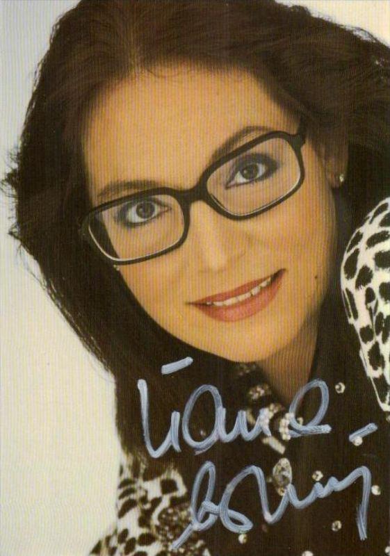 Nana Mouskouri  - Autogramm Karte  .. ( k9552  ) siehe scan