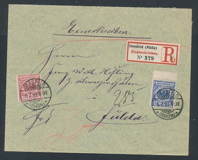R.-Brief Gersfeld...... -netter Beleg   .. ( ze5866  ) siehe scan 0