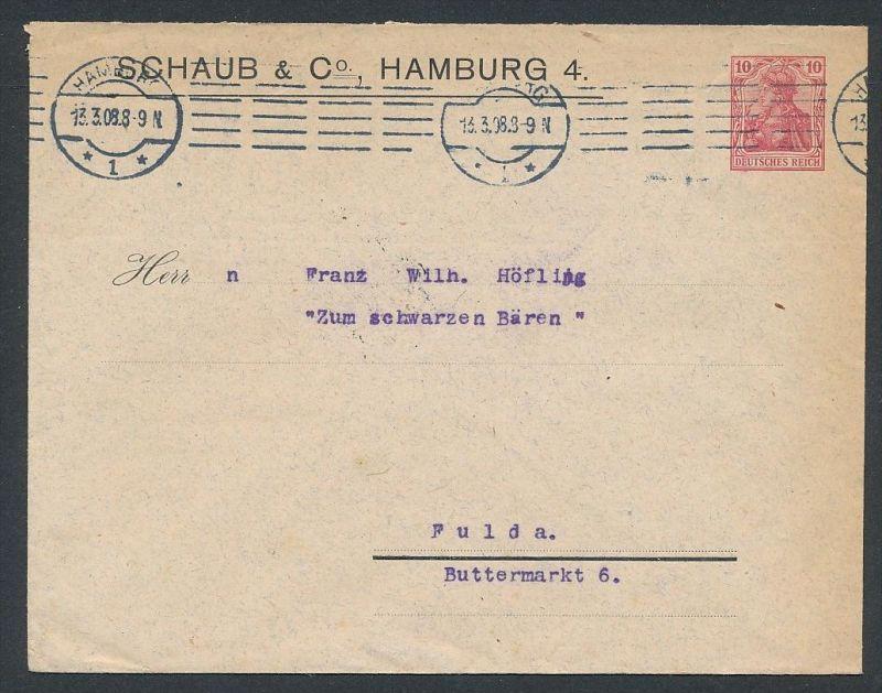 PP-Firmen Ganzsache Hamburg  .. -netter Beleg   .. ( ze5870  ) siehe scan 0