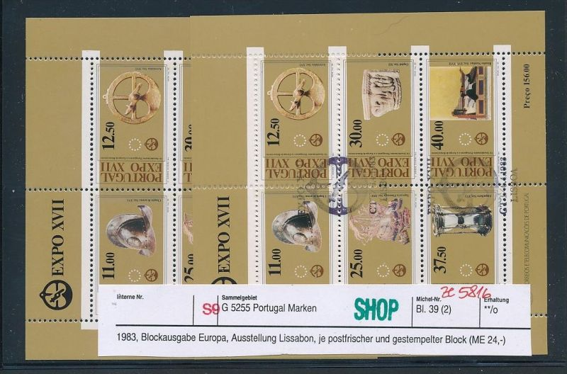 Portugal Block Lot DISCOUNT .. ( ze5816  ) siehe scan