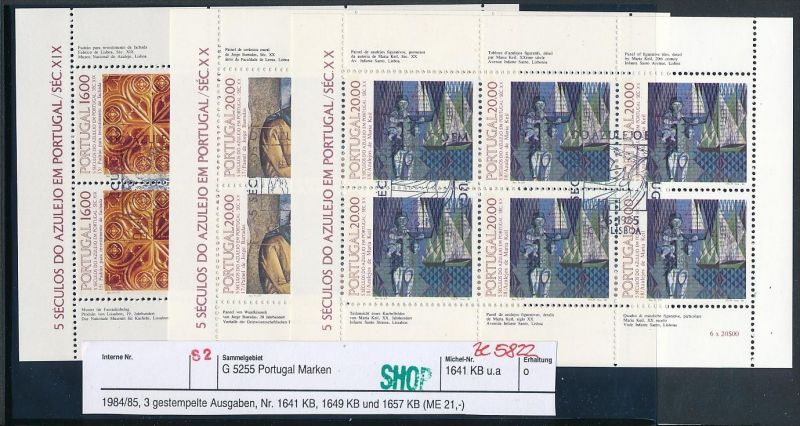 Portugal Block Lot DISCOUNT .. ( ze5822  ) siehe scan 0