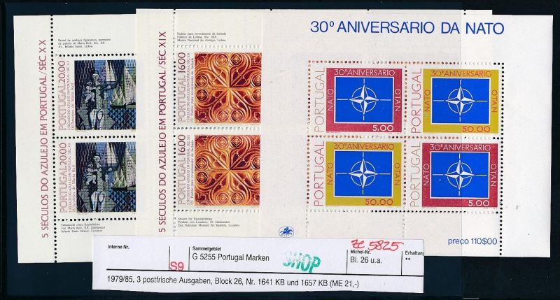Portugal Block Lot DISCOUNT .. ( ze5825  ) siehe scan
