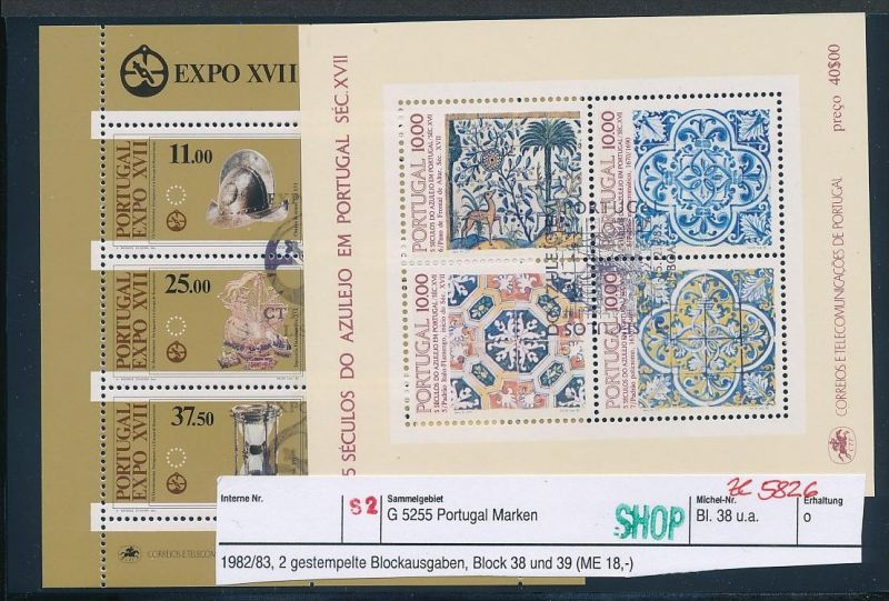 Portugal Block Lot DISCOUNT .. ( ze5826  ) siehe scan