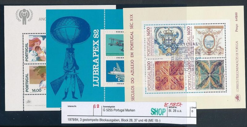 Portugal Block Lot DISCOUNT .. ( ze5827  ) siehe scan 0