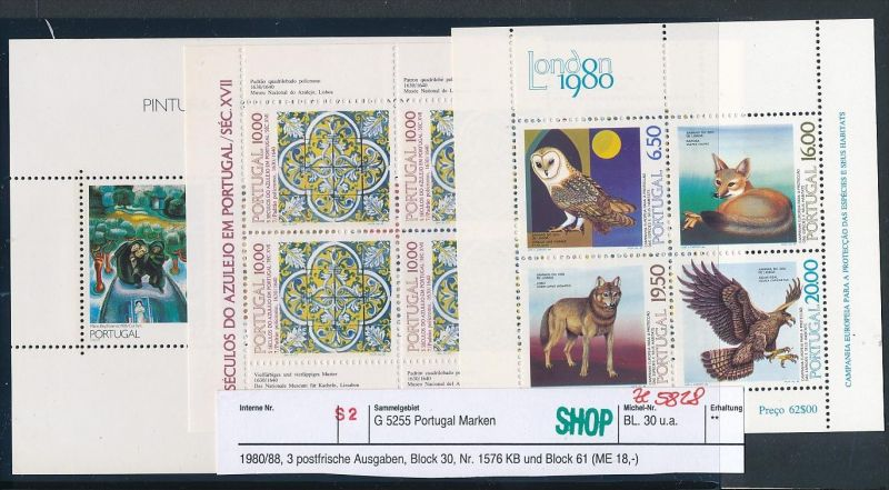 Portugal Block Lot DISCOUNT .. ( ze5828  ) siehe scan 0