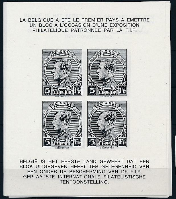 Belgien Schwarzdruck Block  .. ( ze5811  ) siehe scan 0