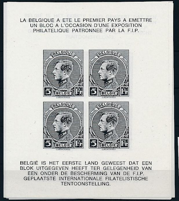 Belgien Schwarzdruck Block  .. ( ze5811  ) siehe scan