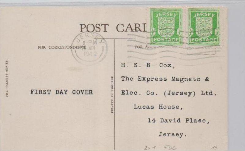 DR. -Jersey  FDC -Beleg   ... ( k9266 ) siehe scan 0