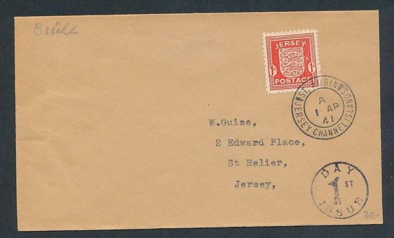 Jersey -  alter Beleg     ... ( t4019  ) siehe scan 0