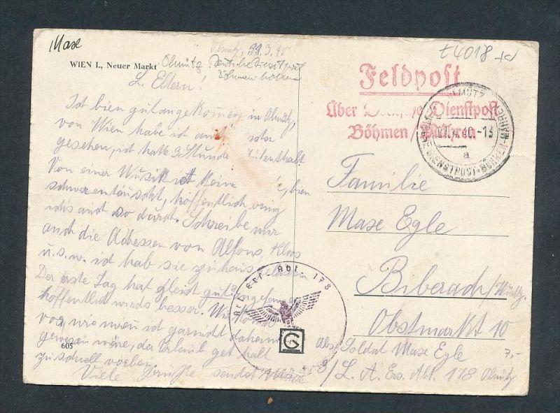 Feldpost Böhmen.....-  alter Beleg     ... ( t4018  ) siehe scan 0