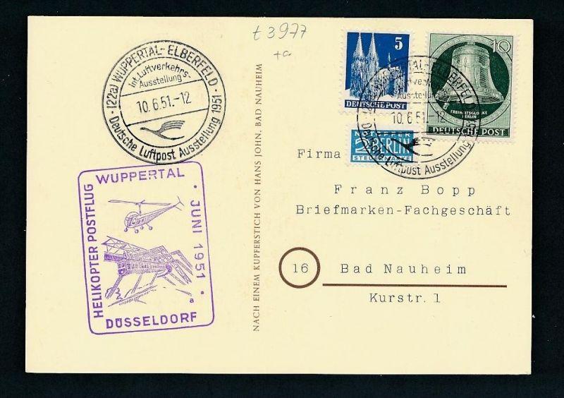 Wuppertal Karte-Stempel  -netter  Beleg  ... ( t3977  ) siehe scan 0