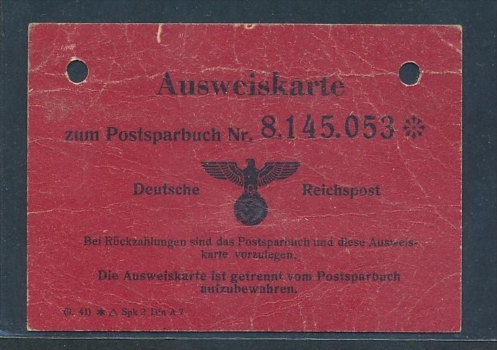 DR Postausweis ..   -netter  Beleg  ... ( t3627  ) siehe scan