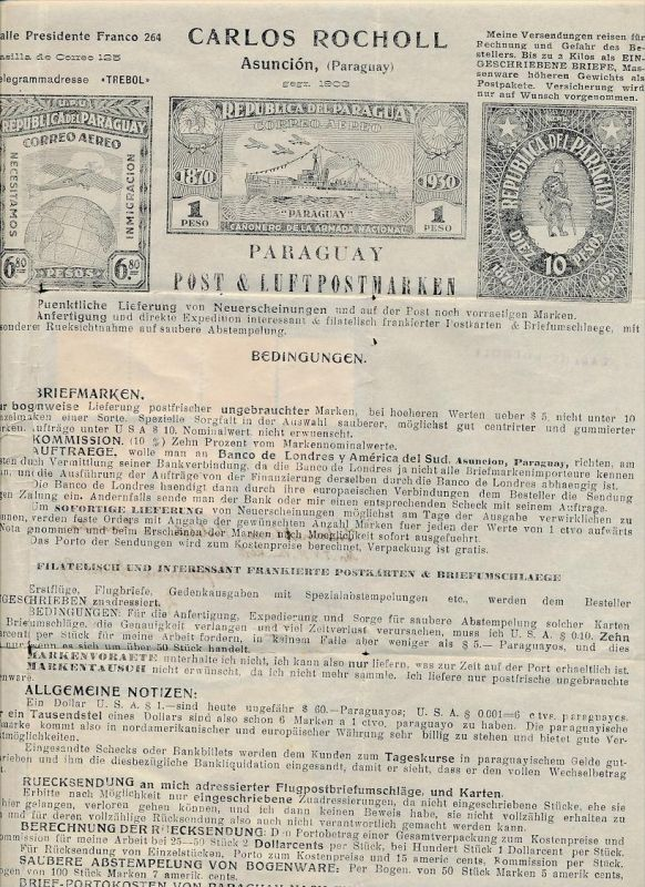 Paraguay.   -netter  Beleg  ... ( t3722  ) siehe scan 1