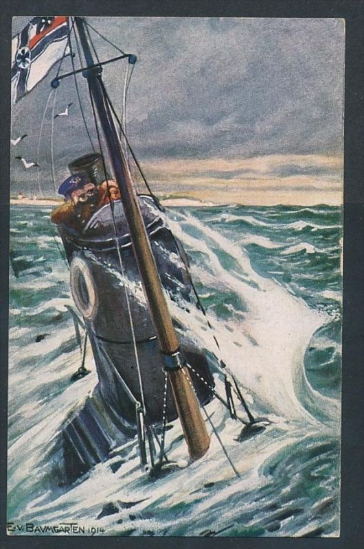 U-Boot  - alte Karte  blanko( t4573  ) siehe scan 0