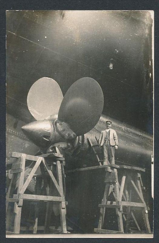 Dampfer /Schraube  - alte Karte  blanko( t4568  ) siehe scan