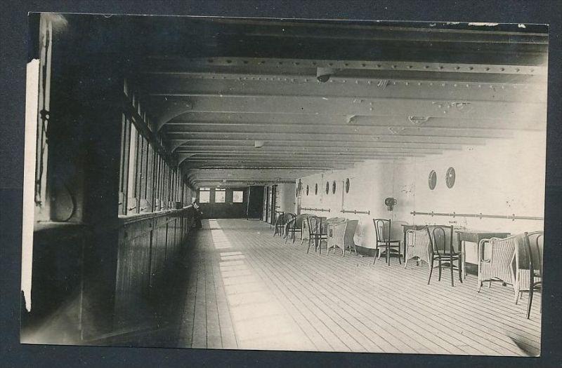 Dampfer an Deck  - alte Karte  blanko( t4570  ) siehe scan