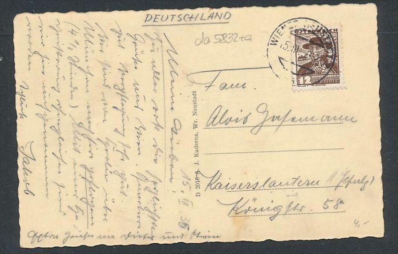 Wien - alte Karte -gebraucht     (da5832 ) siehe Bild ! 1