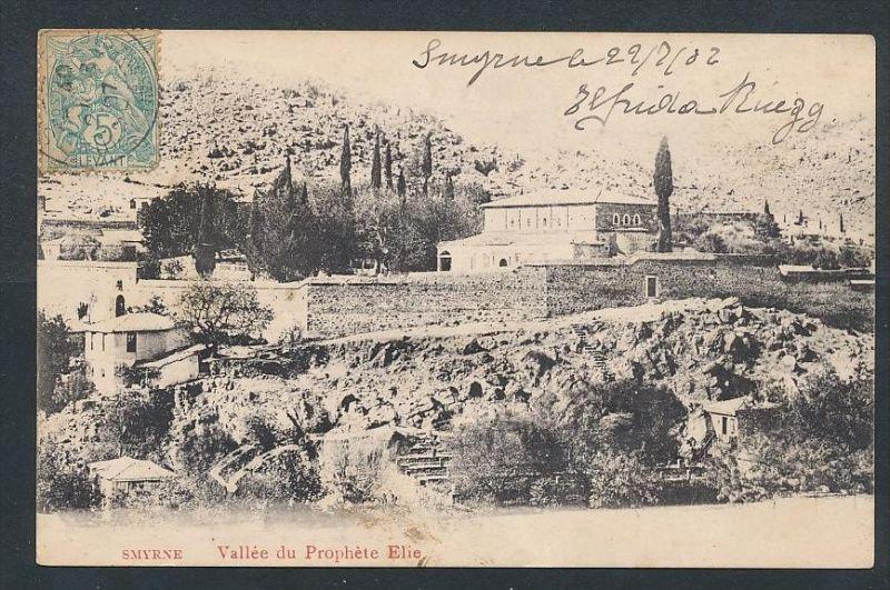 Smyrna- alte Karte -gebraucht     (da5823 ) siehe Bild !