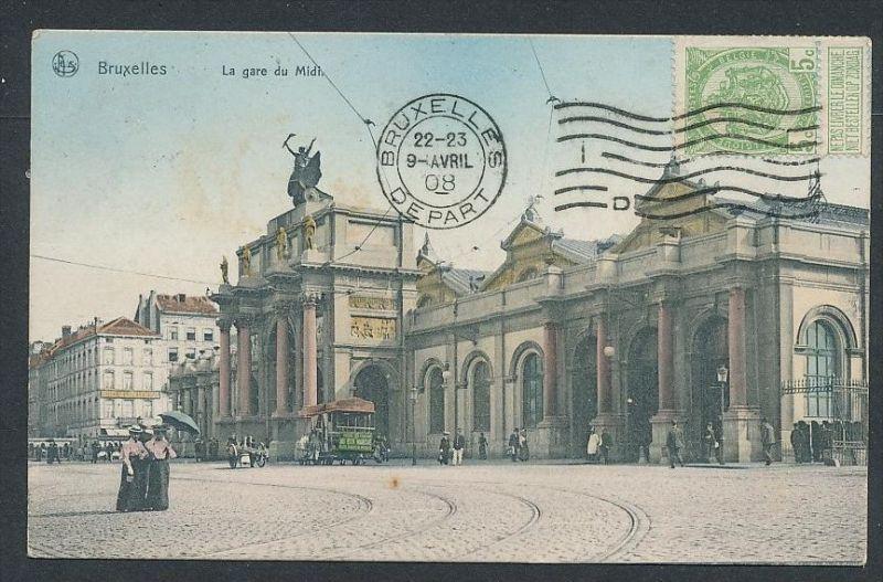 Brüssel  - alte Karte -gebraucht     (da5818 ) siehe Bild !
