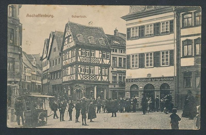 Aschaffenburg  - alte Karte - gebraucht     (da5821 ) siehe Bild !