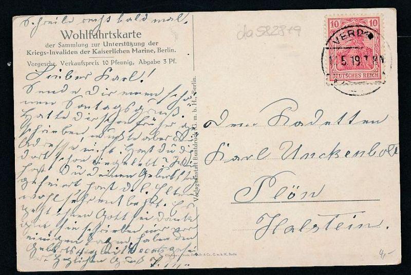 Offiziere der Mariene - alte Karte - gebraucht     (da5828 ) siehe Bild ! 1