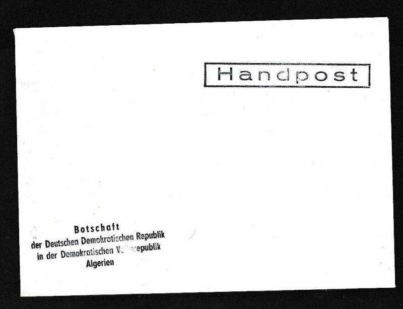 DDR- Dienst/Botschaft Algerien Beleg -HANDPOST sehr selten !! Bitte lesen..    (t4791 ) siehe Bild !