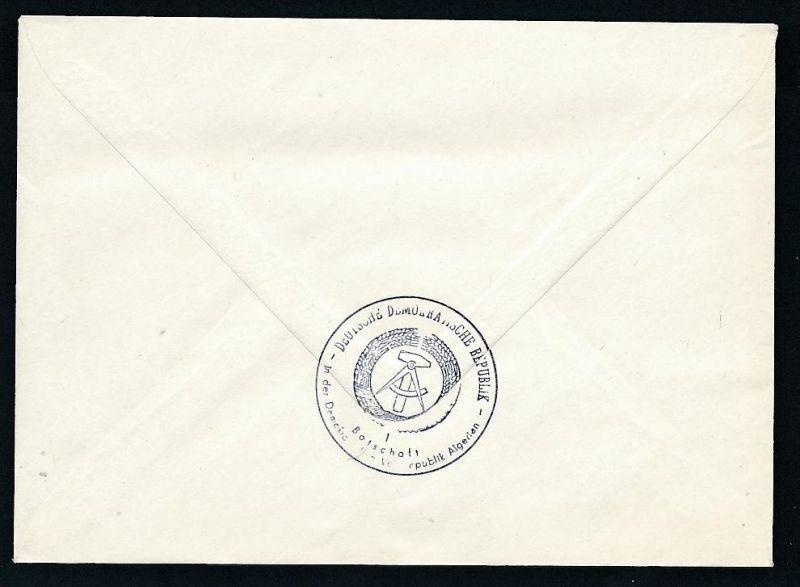 DDR- Dienst/Botschaft Algerien Beleg -HANDPOST sehr selten !! Bitte lesen..    (t4791 ) siehe Bild ! 1
