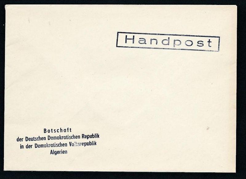 DDR- Dienst/Botschaft Algerien Beleg -HANDPOST sehr selten !! Bitte lesen..    (t4790 ) siehe Bild !