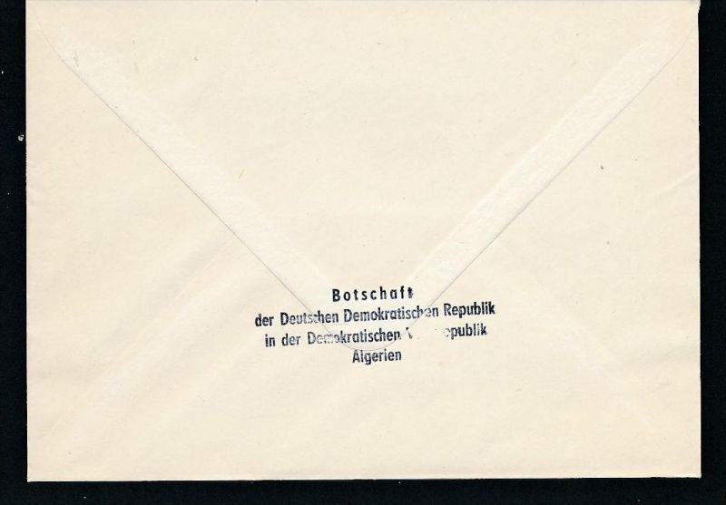 DDR- Dienst/Botschaft Algerien Beleg -HANDPOST sehr selten !! Bitte lesen..    (t4790 ) siehe Bild ! 1
