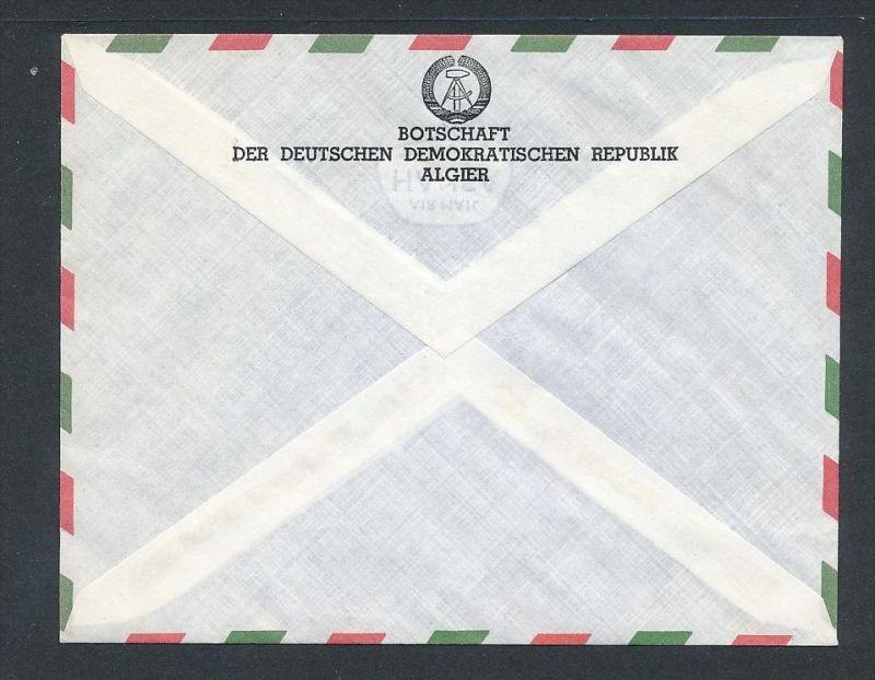 DDR- Dienst/Botschaft Algerien Beleg -HANDPOST sehr selten !! Bitte lesen..    (t4794 ) siehe Bild ! 1